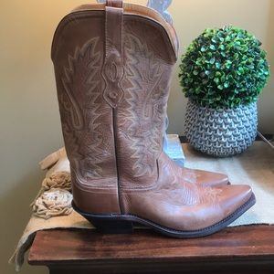 🌻ladies Old West brown leather cowboy boots